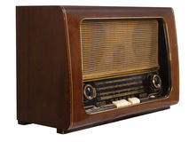 retro gammal radio royaltyfria foton