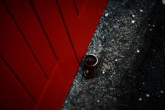 Retro garagedörrhjul Royaltyfri Fotografi