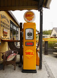 Retro Gas Pump. Old vintage signs and retro gas pump stock photography