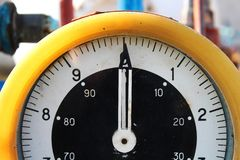 Retro gas station dial Royalty Free Stock Images