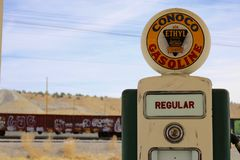 Retro Gas Station Pump stock photos