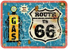 Retro gas station sign Stock Images