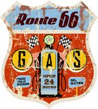 Retro gas station sign Royalty Free Stock Photo