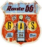 Retro gas station sign Royalty Free Stock Photo