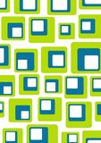 Retro GB. Illustrated retro background of green, blue and white rounded squares Stock Image