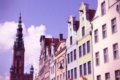 Retro Gdansk Arkivfoto