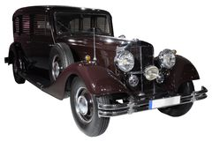 Retro geïsoleerde auto Royalty-vrije Stock Foto