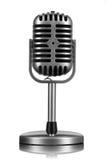 Retro geïsoleerde microfoon Stock Afbeeldingen