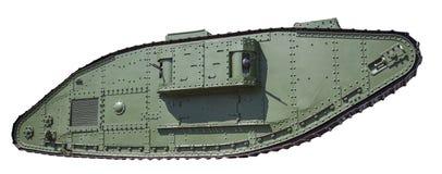 Retro geïsoleerde tank Stock Fotografie