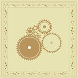 Retro Gear Vintage Background Royalty Free Stock Image