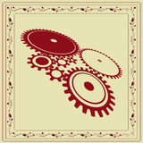 Retro gear vintage background Royalty Free Stock Photography