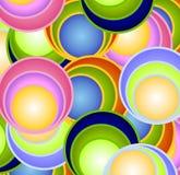 Retro Gebieden van de Ballen van Cirkels Royalty-vrije Stock Afbeeldingen
