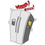 Retro- gebrochener Kühlschrank Lizenzfreie Stockfotos
