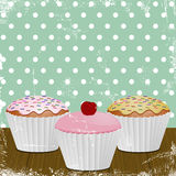 Retro- gefrorene kleine Kuchen Stockbild