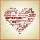 Retro gehoorde Kerstmis Royalty-vrije Stock Foto