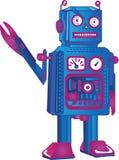 Retro Gekke Robot Vector Illustratie