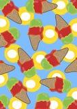 Retro gelato della calce & della ciliegia Fotografia Stock