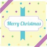 Retro- gelbes Weihnachten pac Stockfotografie