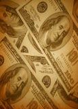 Retro geldachtergrond Royalty-vrije Stock Foto