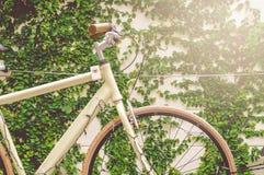 Retro Gele Fiets Stock Foto