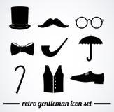 Retro gentleman accessories illustration. Stock Photos