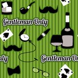 Retro gentleman accessories seamless pattern Stock Photos