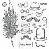 Retro gentlemanbeståndsdelar Arkivbilder