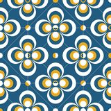 Retro geometric abstract background. Colorful geometric shapes composition on dark blue background vector illustration