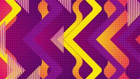Retro geometric abstract orange violet motion background