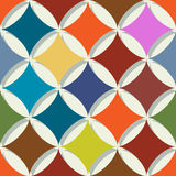 Retro geometric abstract pattern Royalty Free Stock Photos