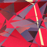 Retro geometric background with colorful triangles Stock Image