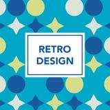 Retro geometric banner. Mid century modern template. Minimal creative fashion background. Vector illustration. Poster, invitation, greeting card, cover design vector illustration