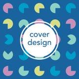 Retro geometric banner. Mid century modern template. Minimal creative fashion background. Vector illustration. Poster royalty free illustration