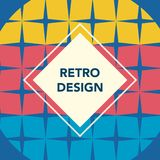 Retro geometric banner. Mid century modern template. Minimal creative fashion background. Vector illustration. Poster, invitation, greeting card, cover design royalty free illustration