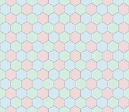 Retro geometric hexagon seamless pattern Royalty Free Stock Photography