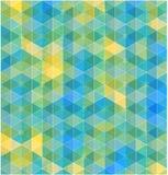 Retro geometric hexagon seamless pattern Stock Photo