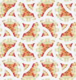 Retro geometric mosaic seamless pattern Royalty Free Stock Images