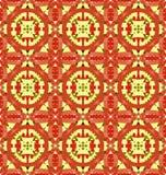 Retro geometric mosaic seamless pattern Stock Image