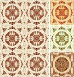 Retro geometric mosaic seamless pattern Stock Photos