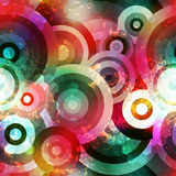 Retro geometric pattern with glow and grunge Stock Image