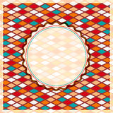 Retro Geometric Rhombus Card Stock Image