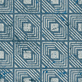 Retro geometric seamless background, vintage vector repeat patte Royalty Free Stock Images
