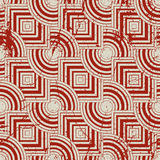 Retro geometric seamless background, vintage vector repeat patte Stock Images