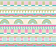 Retro Geometric Seamless Pattern Royalty Free Stock Photos
