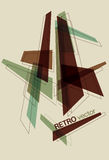 Retro Geometric Shape Background Royalty Free Stock Photo