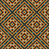 Retro geometric vector seamless patterns Royalty Free Stock Photos