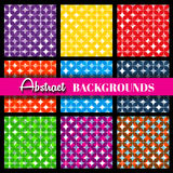 Retro geometric vector seamless patterns  set Royalty Free Stock Photo