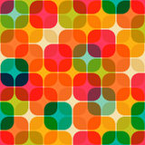 Retro geometrical seamless pattern Stock Photo