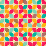 Retro geometrical seamless pattern Royalty Free Stock Photos