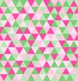 Retro geometrisch driehoek naadloos het herhalen patroon als achtergrond Mozaïek van diverse schaduwen vector illustratie